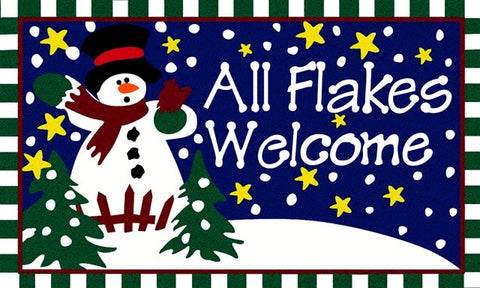 All Flakes Welcome Mat