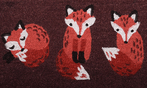 Foxes Mat - Footluze Designs