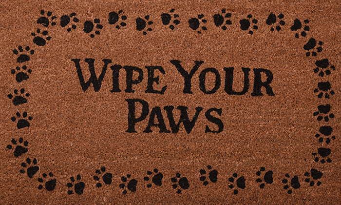 Wipe Your Paws Mat - Footluze Designs