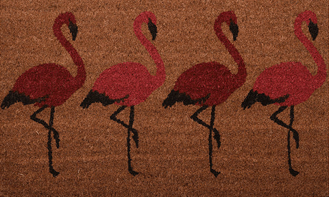 Flamingos Mat - Footluze Designs