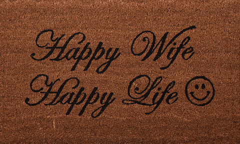 Happy Wife Mat - Footluze Designs