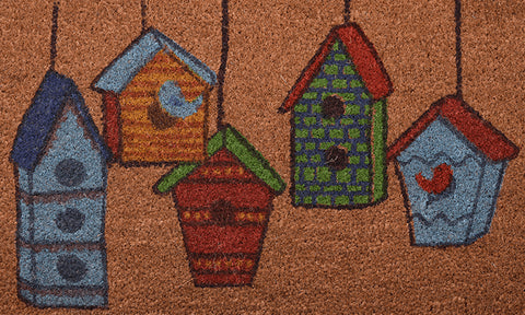 Birdhouses Mat - Footluze Designs