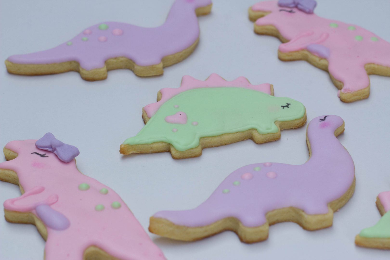 Make dinosaur cookies from store bought cookie mix