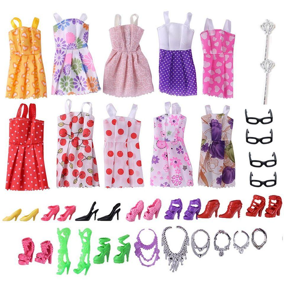 32 Item Set of Barbie/Blythe/BJD Doll Clothes, Shoes and Accessories Toys MJJ Source 2 wands