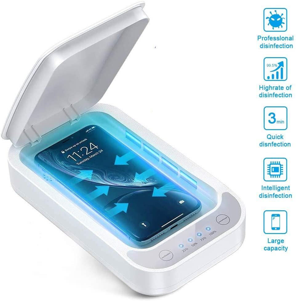 UV Sanitizer Sterilizer for Smart Phones, Masks, Keys, Jewelry with Wireless Charging and Aromatherapy My Moppet Shop