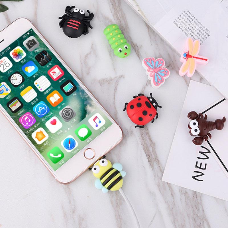 Cable bite Cute Animal cable protector for iphone usb cable organizer chompers charger wire holder for iphone cable Accessories My Moppet Shop