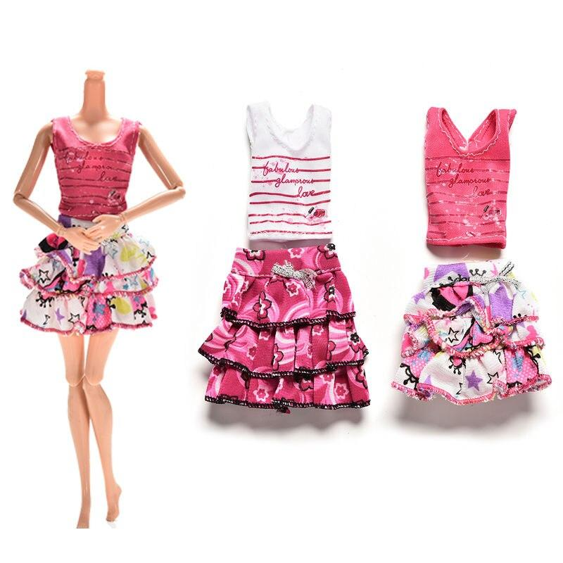 Fashion Doll Clothes - Ruffled Skirt and Top Toys My Moppet Shop
