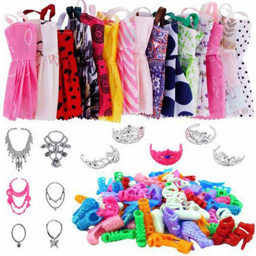 35-Piece Set of Barbie Clothes, Shoes and Accessories My Moppet Shop