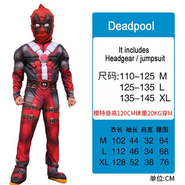 Kids Costumes With Mask and Cloak Clothing MJJ Source Deadpool S