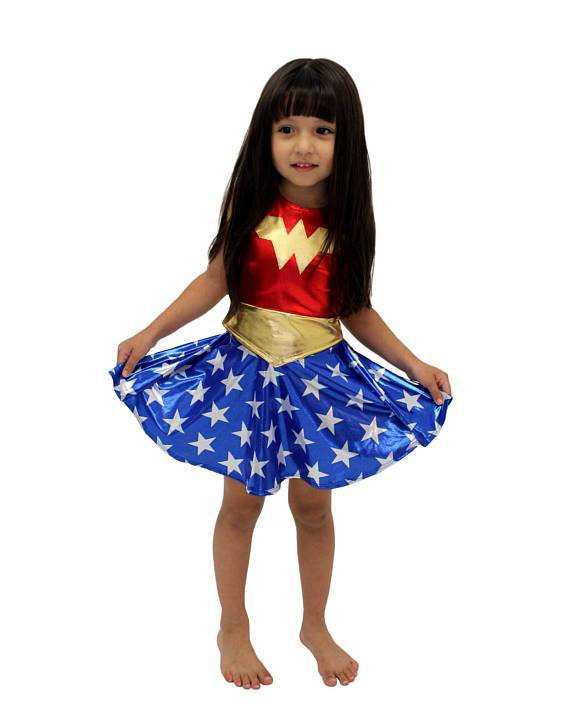 Deluxe Wonder Woman Costume for Kids (3-9 Years) Clothing MJJ Source dress belt S