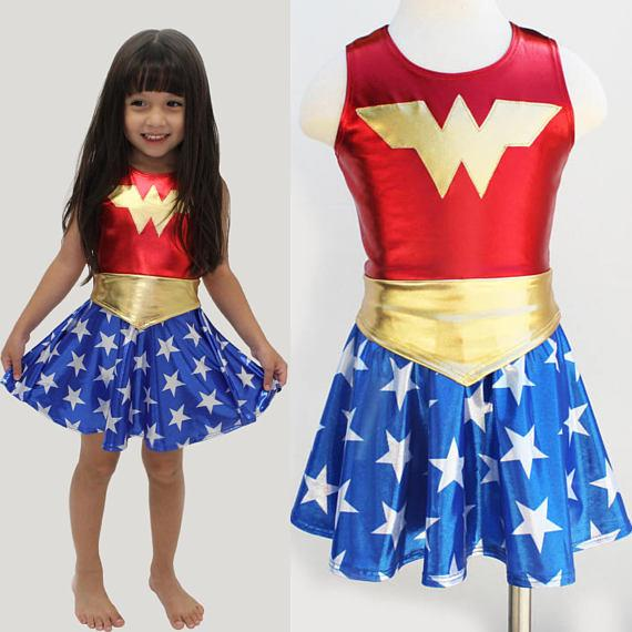 Deluxe Wonder Woman Costume for Kids (3-9 Years) Clothing MJJ Source