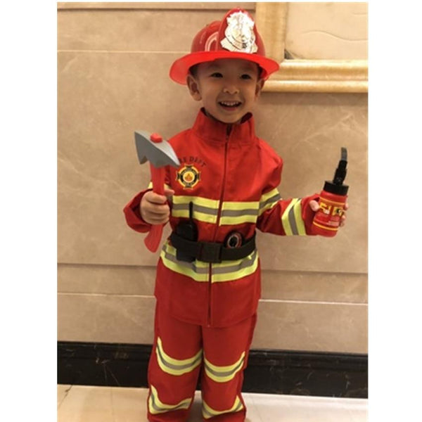 Fireman Sam Uniform Children Halloween Cosplay Firefighter Costumes Accessories Team Wear for Kids MJJ Source
