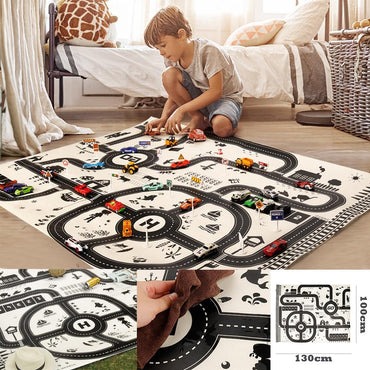 Kids Play Mat City Road Buildings Parking Map Toys MJJ Source