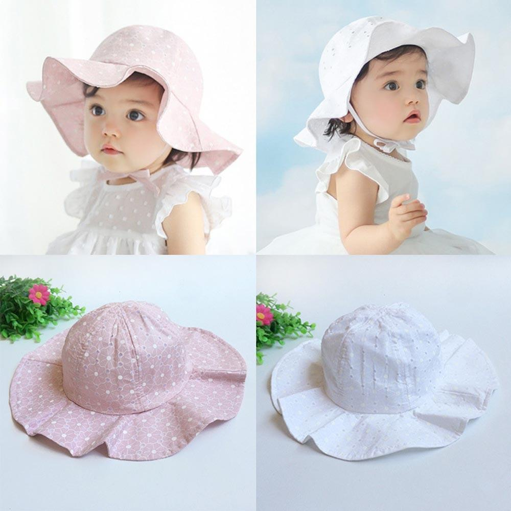Chic Baby Sun Hat in White and Pink Accessories My Moppet Shop