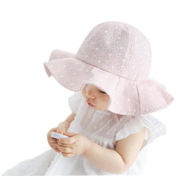 Chic Baby Sun Hat in White and Pink Accessories My Moppet Shop Pink United States