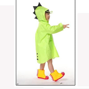 Kids Raincoat kindergarten Dinosaur poncho child toddler poncho spring and autumn 2-6 years Clothing My Moppet Shop green S