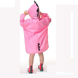Kids Raincoat kindergarten Dinosaur poncho child toddler poncho spring and autumn 2-6 years Clothing My Moppet Shop pink XXL