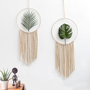 2pcs Set Macrame Cotton Mandala Tapestry Wall Hanging Hand-woven Turtle leaf Living Room Bedroom Decoration Wedding Decoration Home My Moppet Shop