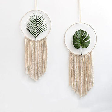 2pcs Set Macrame Cotton Mandala Tapestry Wall Hanging Hand-woven Turtle leaf Living Room Bedroom Decoration Wedding Decoration Home My Moppet Shop 2Pcs as picture