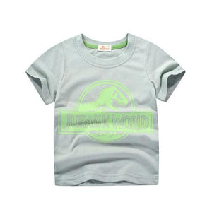 Children's Jurassic T-shirt for Boys Girls 2019 Kids Tops Dinosaur 5-14 Clothing My Moppet Shop Green 3T