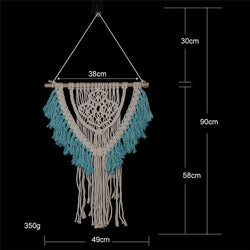 Handmade Wall Hanging Tapestry Macrame Wedding Ceremony Backdrop Wall Art Wedding Home Living Room Home Decor Home My Moppet Shop Tapestry6