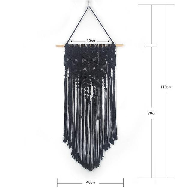 Handmade Wall Hanging Tapestry Macrame Wedding Ceremony Backdrop Wall Art Wedding Home Living Room Home Decor Home My Moppet Shop Tapestry black