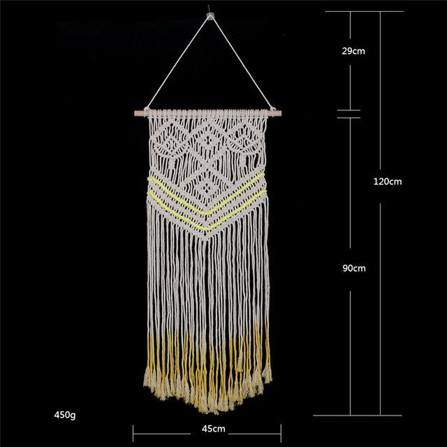 Handmade Wall Hanging Tapestry Macrame Wedding Ceremony Backdrop Wall Art Wedding Home Living Room Home Decor Home My Moppet Shop Tapestry7