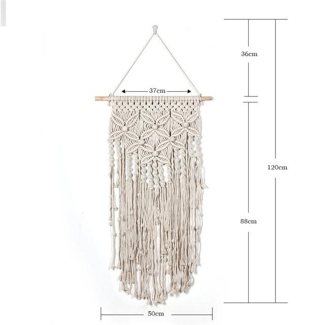 Handmade Wall Hanging Tapestry Macrame Wedding Ceremony Backdrop Wall Art Wedding Home Living Room Home Decor Home My Moppet Shop Tapestry8