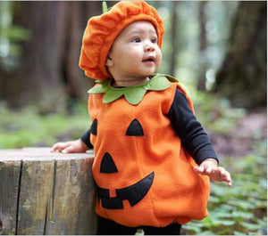 Halloween Pumpkin Costumes Cartoon Cute Outfit Hat Party Baby Rompers Lovely Kids Suit Clothing My Moppet Shop