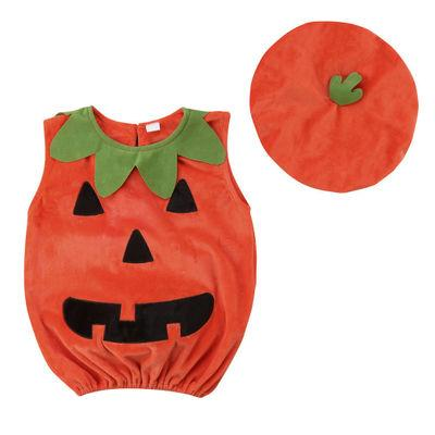 Halloween Pumpkin Costumes Cartoon Cute Outfit Hat Party Baby Rompers Lovely Kids Suit Clothing My Moppet Shop as the pics XS