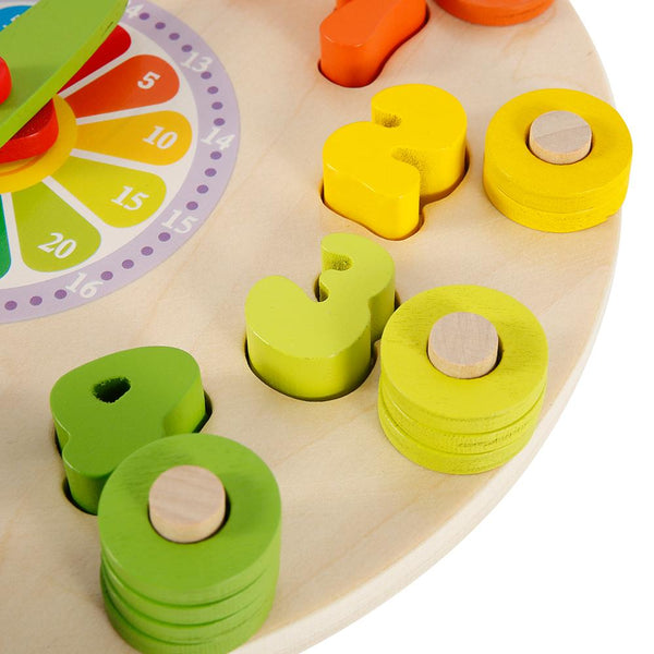 Preschool Montessori Wooden Clock Early Education Teaching Aids Math Counting Shape Matching Toys My Moppet Shop