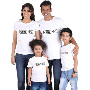 CRTL + C Family Matching T-Shirts for Mom Dad Kids Clothing My Moppet Shop color 1 kids 10T