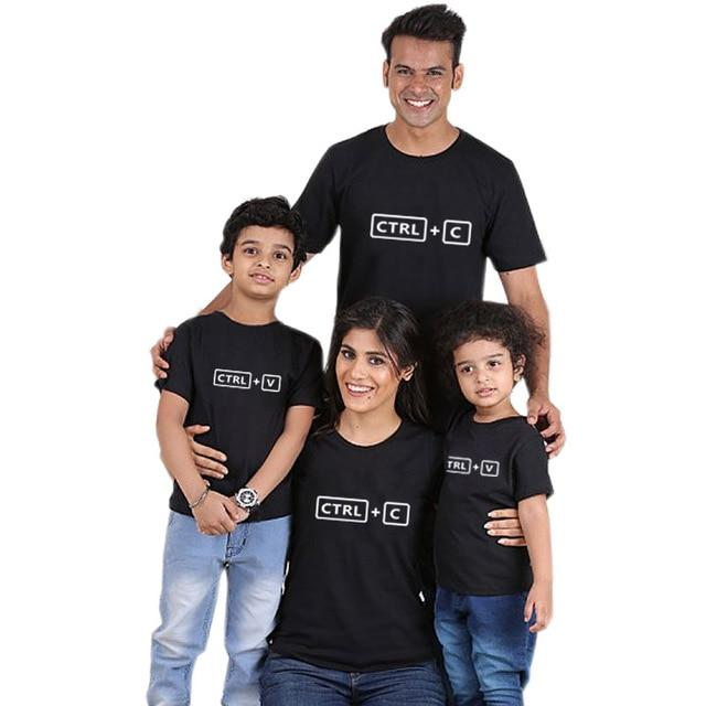 CRTL + C Family Matching T-Shirts for Mom Dad Kids Clothing My Moppet Shop color 3 kids 10T