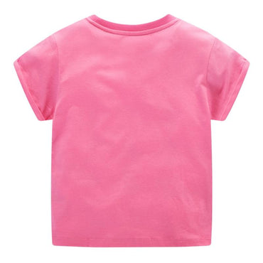 Sequined Pink Girls Dinosaur Cotton T Shirt 2T-7 Clothing My Moppet Shop