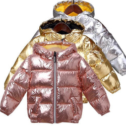 Children's Winter Down Jacket Puffer Parka Metallic Warm Kids Boys Girls Coat Clothing My Moppet Shop