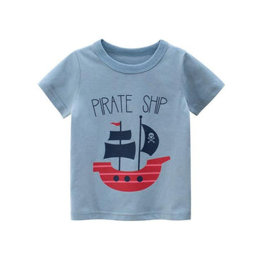 2020 Boys Girls Kids Pirate Ship Cotton T-Shirt Top Clothing My Moppet Shop 17 8T