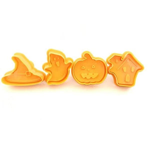 4pcs Halloween Pumpkin Ghost Theme Plastic Cookie Cutter Plunger Fondant Sugarcraft Chocolate Mold Cake Decorating Tools Home My Moppet Shop