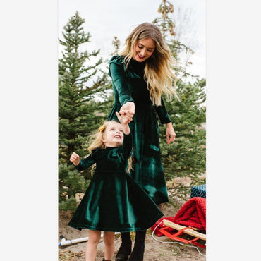 Mommy And Me Velvet Dress Clothing My Moppet Shop