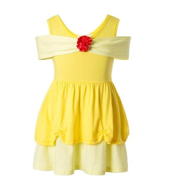Girls Clothing snow white princess dress Clothing Kids Clothes,belle moana Minnie Mickey dress birthday dresses mermaid costume MJJ Source belle 3T
