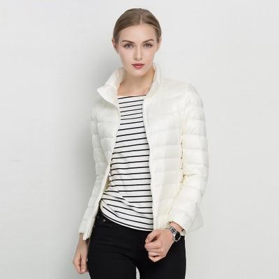 Women Winter Coat 2018 New Ultra Light White Duck Down Jacket Slim Women Winter Puffer Jacket Portable Windproof Down Coat MJJ Source White S