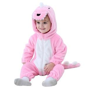 Baby Pink Dinosaur Costume Animal Romper Infant Toddler 0-3T Clothing My Moppet Shop Pink 3T China