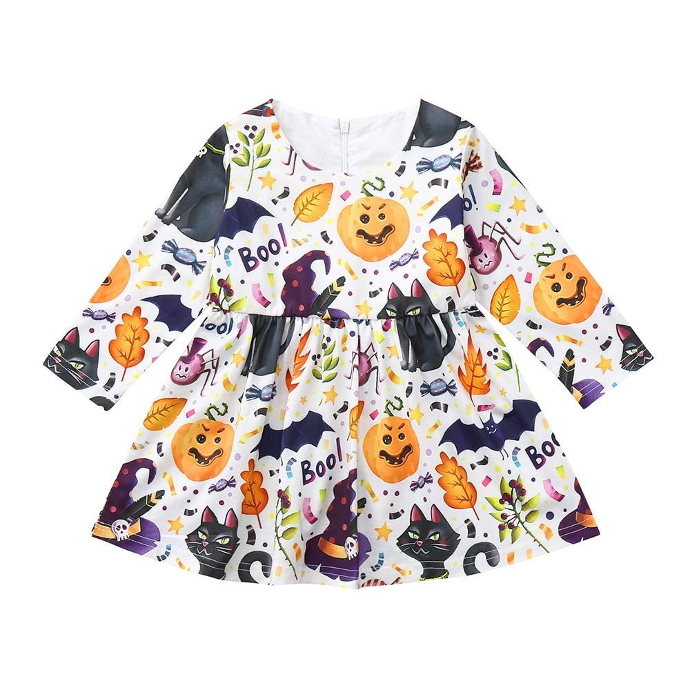 Toddler Girl Halloween Themed Dress (12M-4T) Clothing My Moppet Shop