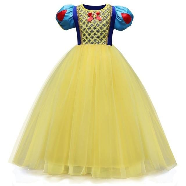 Girl Snow White Dress for Girls Princess Dress Kids Toddlers Gifts Halloween Party Clothes Fancy Clothing Cute Cosplay MJJ Source Style 2 4T
