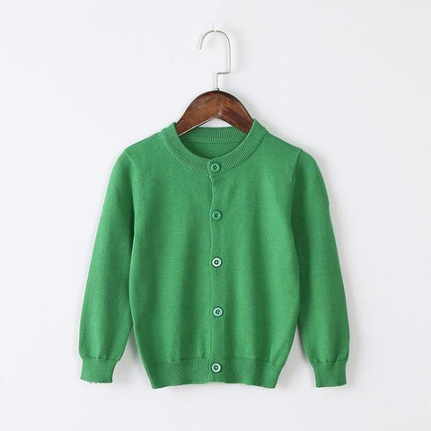 Girls Cardigan Sweater School Uniform - Green Clothing My Moppet Shop Green 4T United States