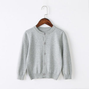 Girls Cardigan Sweater School Uniform - Gray Clothing My Moppet Shop Gray 4T United States