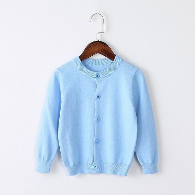 Girls Cardigan Sweater School Uniform - Sky Blue Clothing My Moppet Shop Blue 4T United States