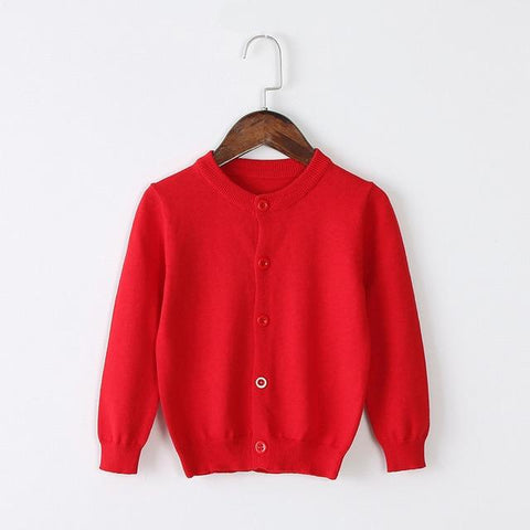 Girls Cardigan Sweater School Uniform - Paprika Red Clothing My Moppet Shop Red 4T United States