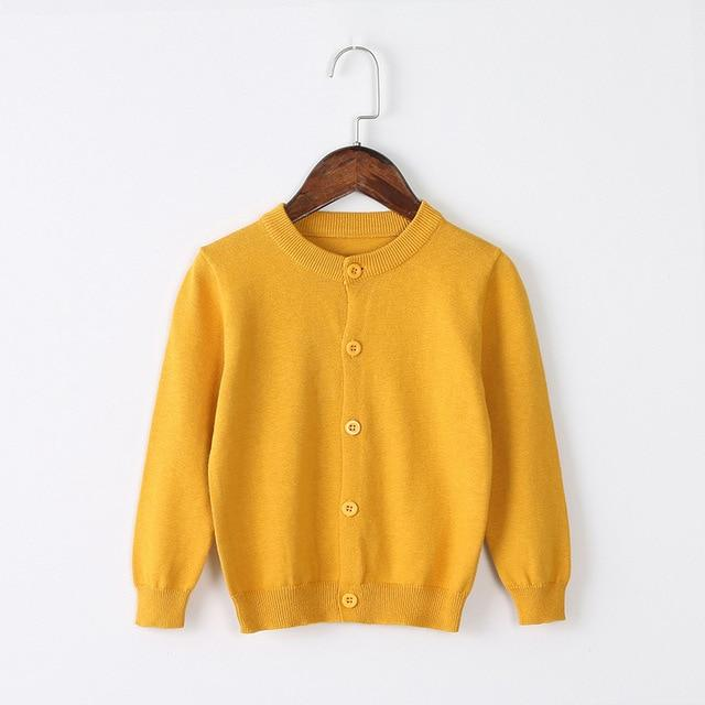 Girls Cardigan Sweater School Uniform - Marigold Clothing My Moppet Shop Yellow 4T United States