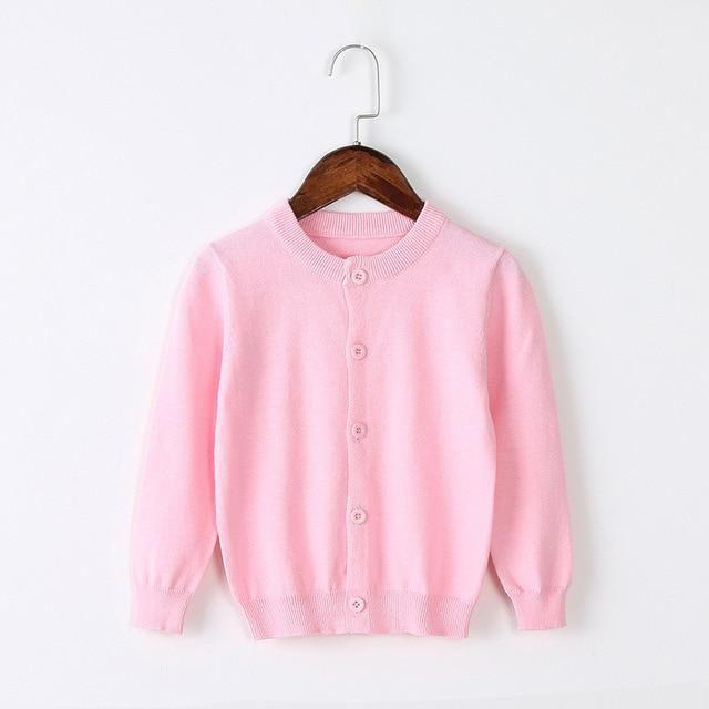 Girls Cardigan Sweater School Uniform - Soft Pink Clothing My Moppet Shop Pink 4T United States
