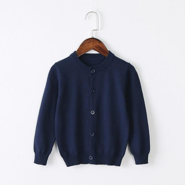 Girls Cardigan Sweater School Uniform - Navy Blue Clothing My Moppet Shop Navy 4T United States